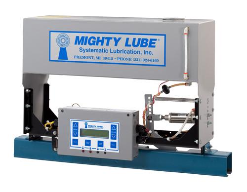 Lubricador de línea única Mighty Lube modelo 2000L para cintas transportadoras de vía cerrada Unibilt