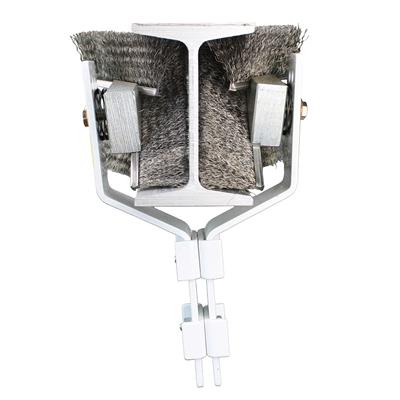 Cepillos de barrido de vigas para limpiar rieles transportadores de vigas en I de 4 pulgadas