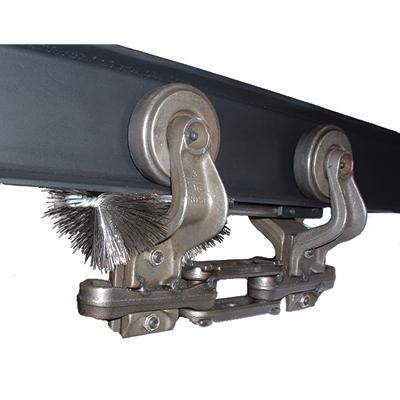 Model 40Y Conveyor yoke cleaning brush for 4 inch i-beam conveyors