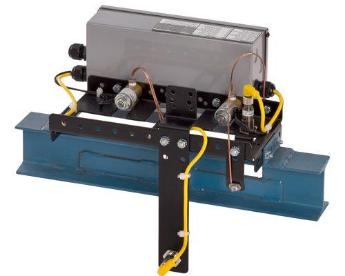 Lubricador modelo 9003L para vista posterior del transportador ibeam de 3 pulgadas