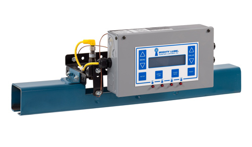 Unidad principal de lubricación para transportador Mighty Lube Modelo 9002L para cadenas transportadoras de vía cerrada unibilt