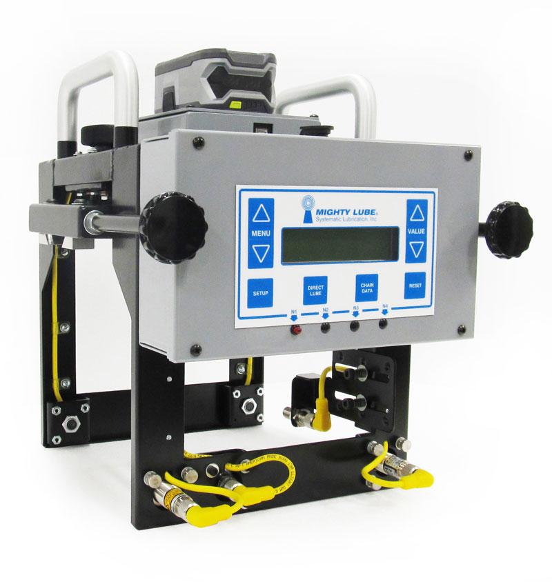 Sistema de monitoreo de transportador portátil Mighty Lube para múltiples líneas de transportador