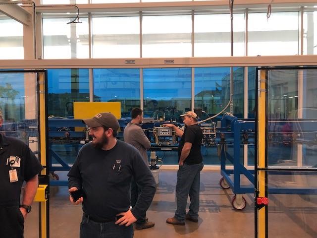 Transportador en TCAT con equipo Mighty Lube y OPCO instalado para el curso de capacitación MOCS