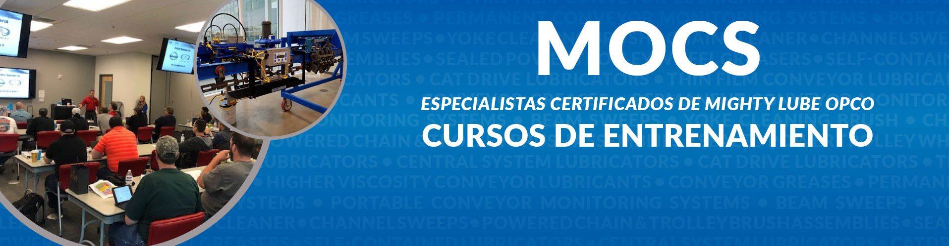 MOCS Mighty Lube Curso de capacitación de especialistas certificados por OPCO