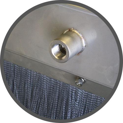 Cubierta del lubricador del transportador de acero inoxidable, Incluye accesorio de coupler inoxidable de ½ pulgada para manguera de drenaje