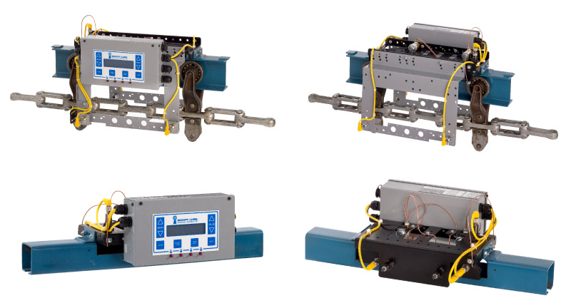 Permanent Conveyor Monitoring Models hardware for I-Beam monorail conveyors and enclosed track type conveyors