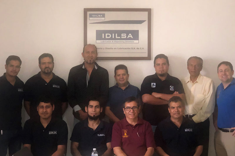 IDILSA employees who completed MOCS Mighty Lube and OPCO conveyor maintenance specialist training in June 2019