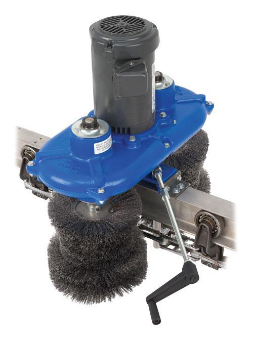 OPCO Model OP-8 Powered conveyor cleaning Brushes